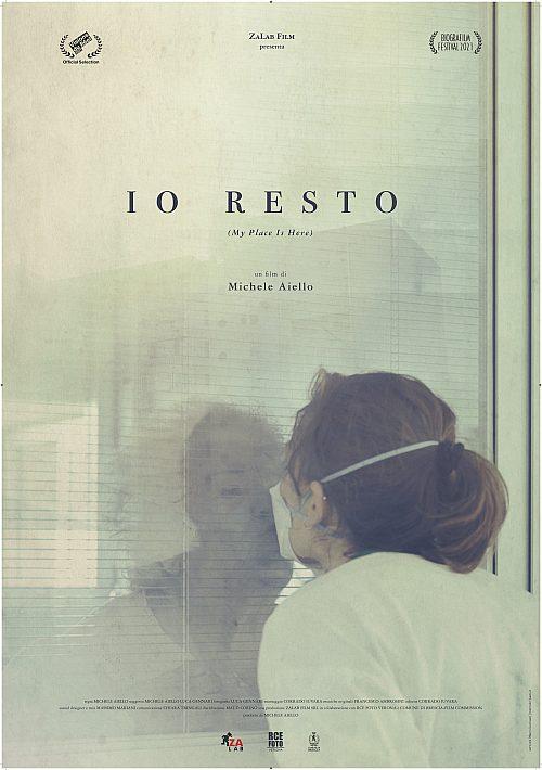 IO RESTO 70x100 stampa