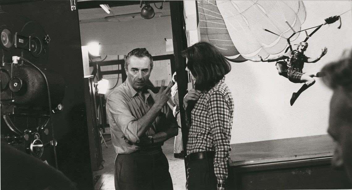 Antonioni And Vanessa Redgrave On Set In West London