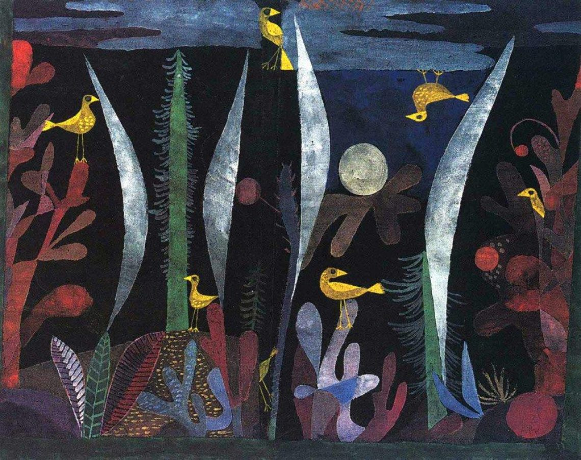 Paul Klee Landscape With Yellow Birds 1923